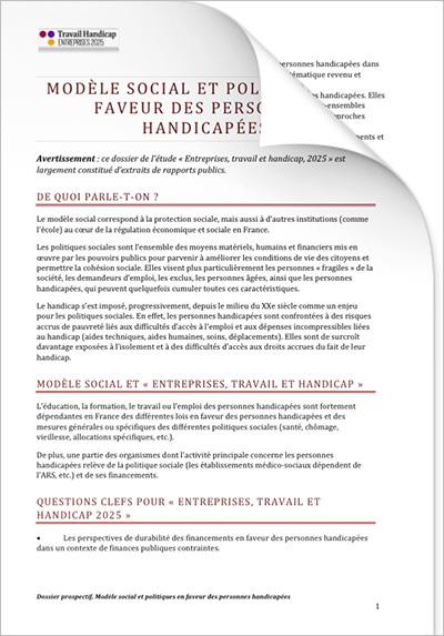 ETH 2025 Image PDF - Dossiers prospectifs : MODÈLE SOCIAL