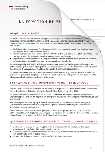 ETH 2025 - Entreprise et RH « Fonction RH en entreprise » (PDF)